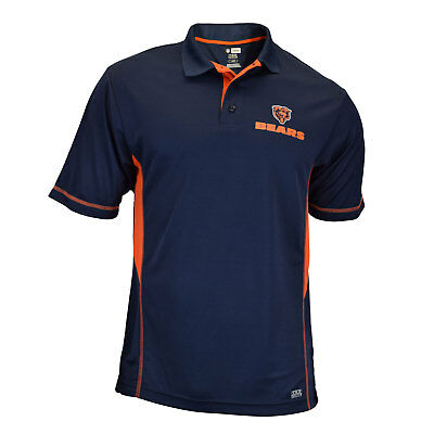 Authentic NFL Chicago Bears TX3 Cool Polo Shirt with Graphic Team Logo
