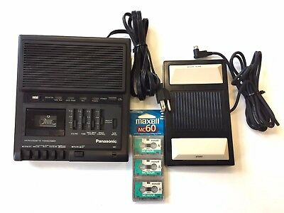 PANASONIC RR-930 Transcriber & RP-2692 Pedal PLUS 3-pack Maxell Microcassettes