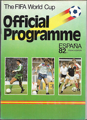 1982 FIFA WORLD CUP (Spain) - Official Programme (France edition)