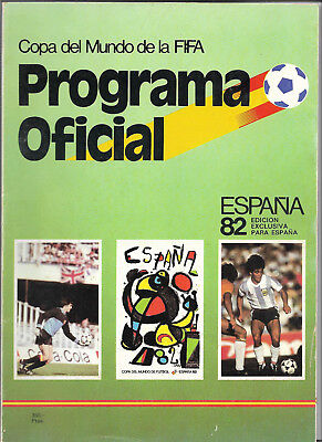 1982 FIFA WORLD CUP (Spain) - Official Programme (rare 102 page Spanish edition)