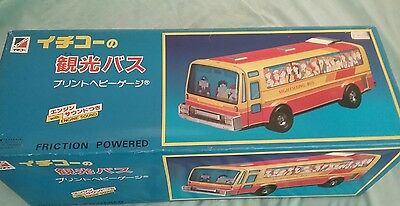 Ichiko 42 cms Friction Powered Sightseeing Bus Made in Japan
