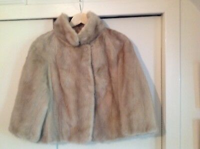 Blonde Genuine Mink Fur Jacket