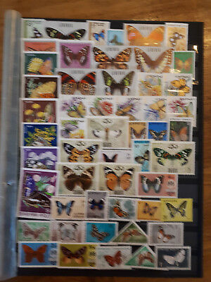 52 timbres papillons (lot 1)