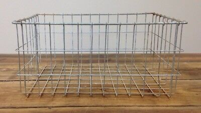 "Vintage Large Wire Basket - 18"" X 12"" X 8"" - Galvanized - Rare - Cool - Rustic"