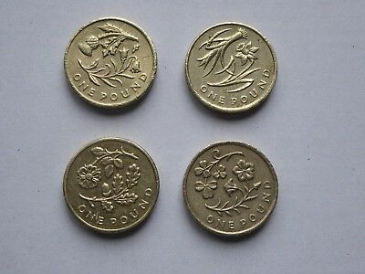 £1 Coin Flower Circulated Set