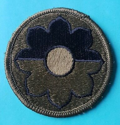 US 9th Infantry Division Shoulder Sleeve Insignia, Subdued.