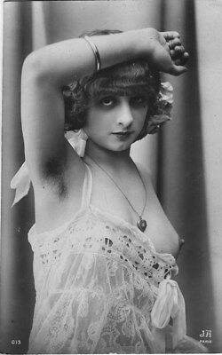 French NUDE real photo postcard circa 1920 Jean AGELOU cp702