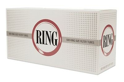 RING Full Flavour 1000 King Size Cigarette Filter Tubes 2 Boxes of 500