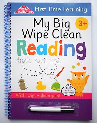 Wipe Clean Book to Learn to Read & Write children 3 4 5 Pre school Phonics NEW