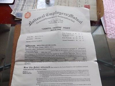 National Employers Mutual  Careful Drivers Policy Number B612615 dated 1936