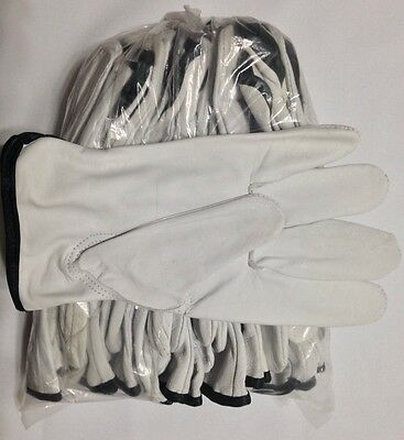 12 Pair Pack, Goat Skin Grain Leather Drivers, work safety gloves (PPE), Size XL
