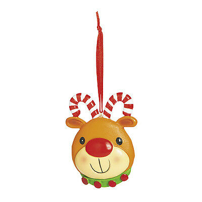 12 Candy Cane Antler RUDOLPH Reindeer Christmas Tree Ornaments HOLIDAY GIFT
