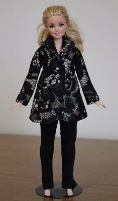 Clothes for Curvy Barbie Doll. Lace Jacket and Leggings for Dolls.