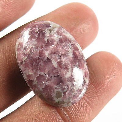 Fabulous Real 26x29 mm LEPIDOLITE Oval Cabochon Gemstone 24.90 Cts For Jewellery