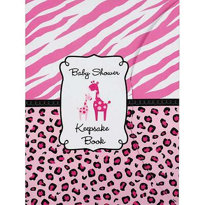 Baby Shower Keepsake Book Safari Giraffe Girl PINK by Amscan