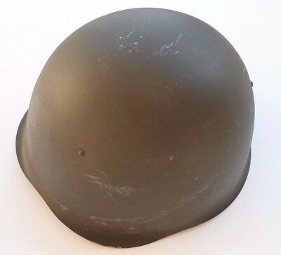 Military War Helmet With Liner and Chin strap- No Markings - Army Militaria