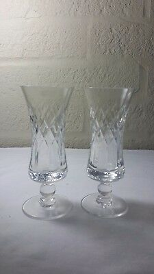Royal Brierley Coventry pattern sherry schooners