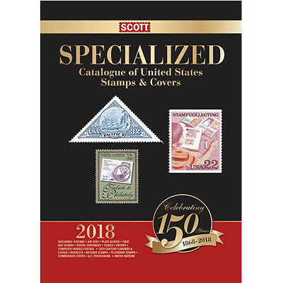 2018 Scott Standard Postage Stamp Catalogue, US Specialized