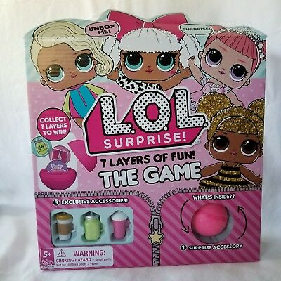 Lol Surprise Doll Game 7 Layers Of Fun Unbox Trade Collect New