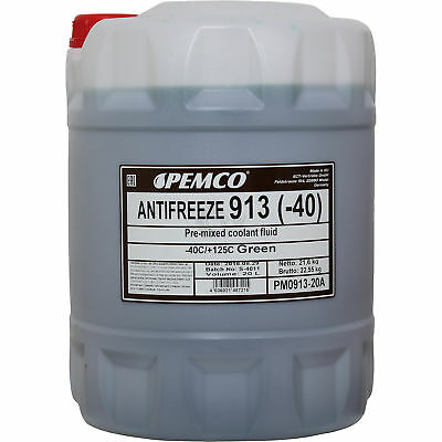 20 Liter GENUINE Pemco Antifreeze Anti-Freeze 913 40) Green