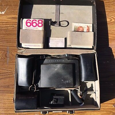 Polaroid 180 Instant Land Camera w/ Case, Flash, Meter, Portrait and Filter Kits