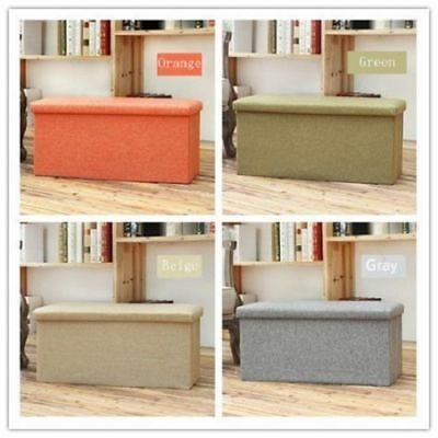 Double Seater Ottoman Storage Box Bench Stool Cube Seat Padded Seat/Foldable