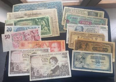 Lot 14 banknotes from Europe