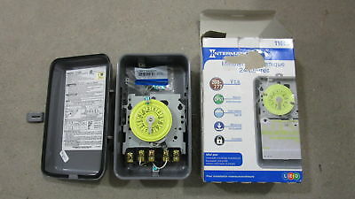 Intermatic T104R 208-277-V DPST 24 Hr Mechanical Time Switch w/Outdoor Case #B13