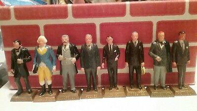 Marx lot of 8 US presidents factory painted