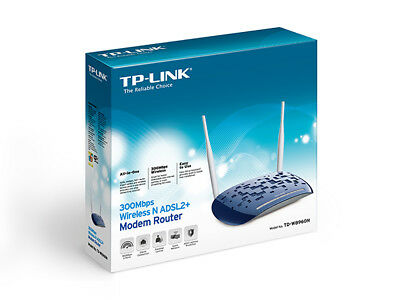 TP-LINK MODEM ROUTER ADSL2+ WIRELESS N 300Mbps TD-W8960N COLOR BLUE - NUOVO