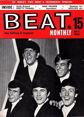 Beat Monthly Magazine. July 1964. Dave Clark Pretty Things Hollies etc.