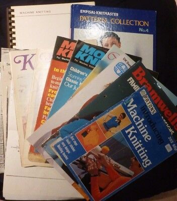 Machine Knitting Related Literature - Books, Mags,patterns - Job Lot