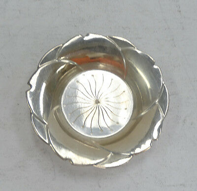 Cute Sterling Silver Candle Dish A3789