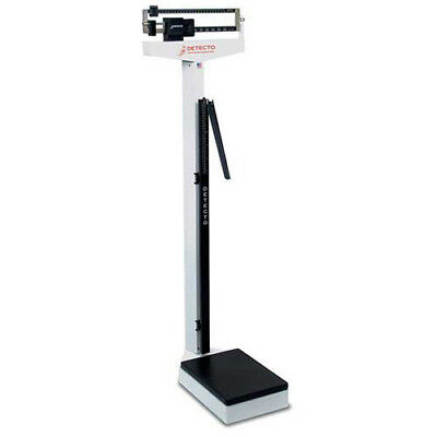 Detecto 439 Eye Level Beam Physician Scale W/ Height Rod, 400lb x 4oz