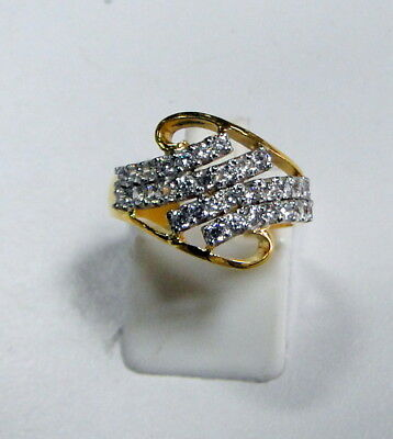 18 Ct solid gold Genuine diamond  set ring