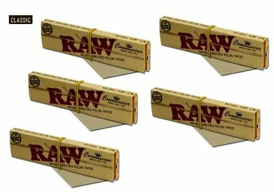 Raw Classic Connoisseur King Size Slim With Tips Rolling Paper - 5pk