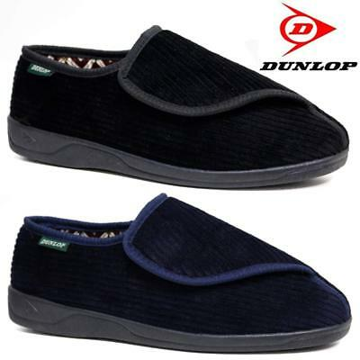 Mens Dunlop Diabetic Orthopaedic Easy Close Wide Fitting Slippers Shoes Size