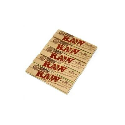 Raw Organic Connoisseur King Size Slim With Tips Rolling Paper - 5pk