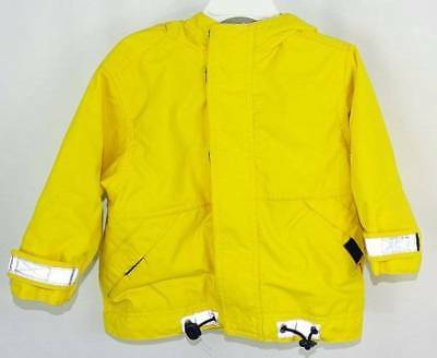 Toddler Hanna Andersson Weatherwear Yellow Striped Lined Hooded Jacket 80cm  2T