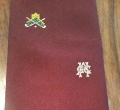 Vintage Mens Tie Golf Ghac Crest Retro Club Association