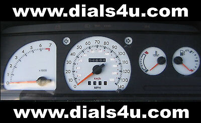 FORD ESCORT Mk4 RS TURBO / XR3i (1986-1990) - 140mph WHITE DIAL KIT