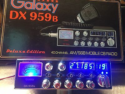 galaxy 959b  with dual,galaxy mosfet finals super tuned aligned, Blue Displays