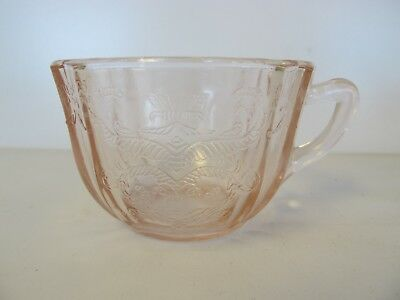 Indiana Glass Madrid Depression Pink Teacup-Reproduction