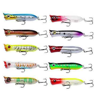 1PCS Topwater Popper Fishing Lures Bass Fish Tackle Wobblers 10g/3.15inches Trol
