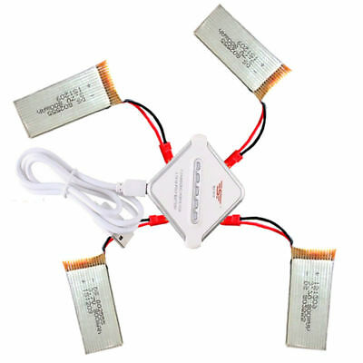 4 PCS 3.7V 800mAh Lipo Battery For RC Drone JJRC F181 H12C + JST 4-in-1 Cha O6T7