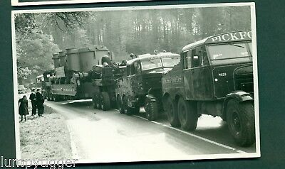 PICKFORD LORRIES & TRAILER CARRYING LARGE OBJECTS,photograph.