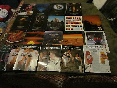 22 Fabulous Vintage Assorted Johnnie Walker Scotch Magazine Ads 1980's And Up