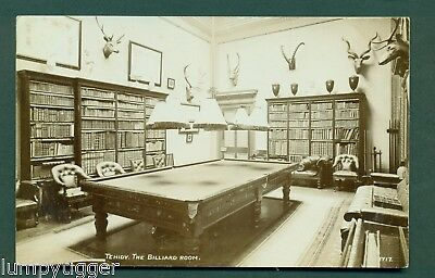 TEHIDY,THE BILLIARD ROOM,NO 1717, vintage postcard