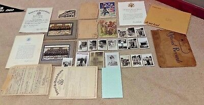 World War Two Ww2 Huge Lot Of Photos Discharge Papers Cards Paper Work Records