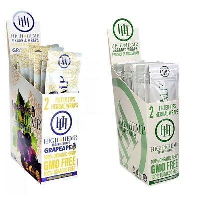 High Hemp Grape & Organic Mix 2 Boxes- 50 Pouches -100 Wraps/Filters!